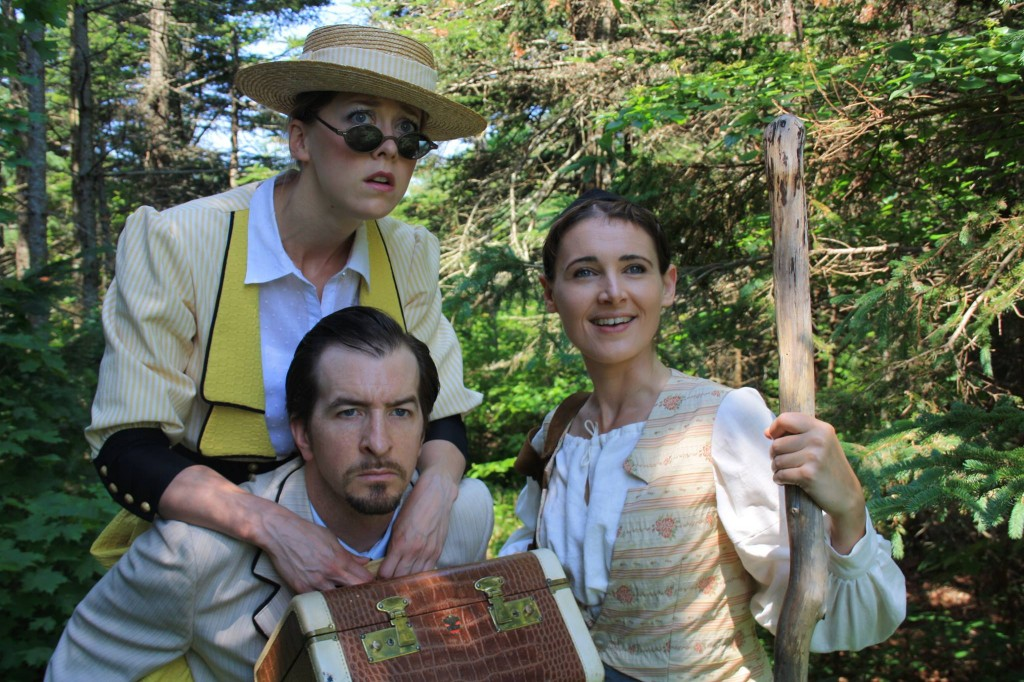 Jamie Konchak, Jeff Schwager and Alexis Milligan in As You Like It.