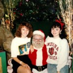 Marta, creepy Santa and me.